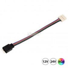 RGB LED strip Click connector kabel 4-aderig, soldeer vrij
