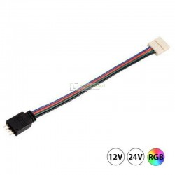 RGB LED strip Click connector kabel 4-aderig, soldeer vrij